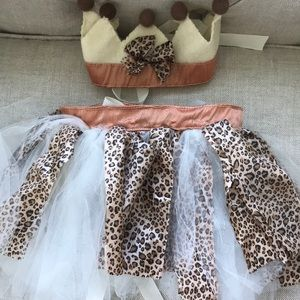 Leopard Wild One Tutu Skirt and Crown